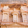 Upper level of facade The Treasury in Petra — Zdjęcie stockowe
