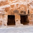 Living ancient caverns  in Little Petra — Stock Photo