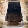 Interior of big antique chamber in Little Petra — Stock Photo