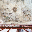Royalty-Free Stock Photo: Ancient painted plaster on the ceiling of one of the caves in Little Petra