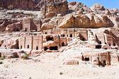 Street of Facades, Petra — Stock Photo