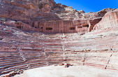 Ancient Nabatean Theater in Petra — Stock Photo