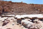 Pasos del antiguo templo de petra — Foto de Stock
