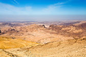 Mountain panorama of Jordan near Petra — Stock Photo