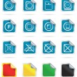 Stock Vector: Laundry icons