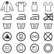 Set of washing symbols — Stock Vector