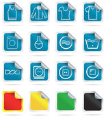 Laundry-icons — Stock Vector