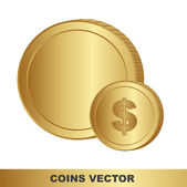 Gold coins — Stock Vector