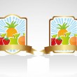 Fruit label Set — Stock Vector #10243834
