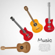 Acoustic and electric guitar — Stock Vector