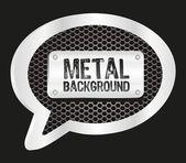 Metallic text balloon — Stock Vector