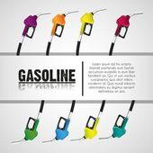 Gas pumps — Stock Vector