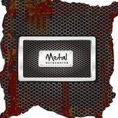 Metal label — Stock Vector