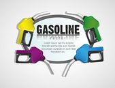 Background gas pumps — Stock Vector
