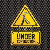 Signal under construction — Stock Vector