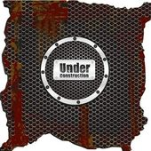 Label on background grid pattern rusty — Stock Vector