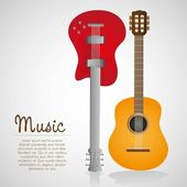 Electric and acoustic guitar — Stock Vector