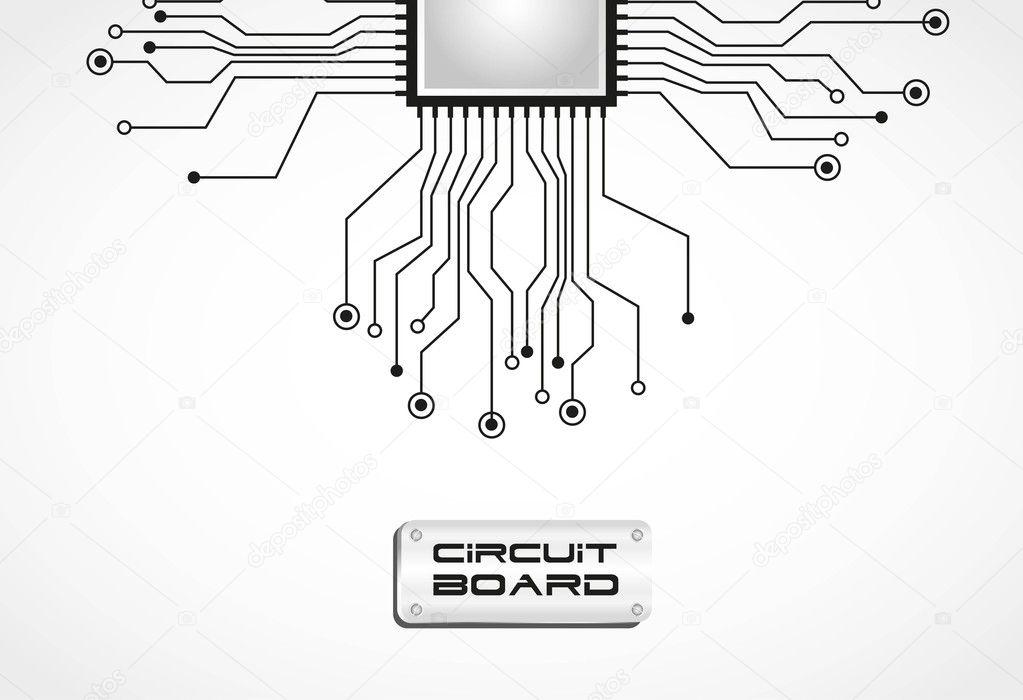 circuit board cpu  u2014 stock vector  u00a9 grgroupstock  10244124