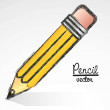 Cartoon pencil — Stock Vector