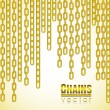 Gold link chain dangling — Stock Vector #10374994