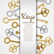 Stock Vector: Old keys