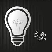 Label light bulb — Stock Vector