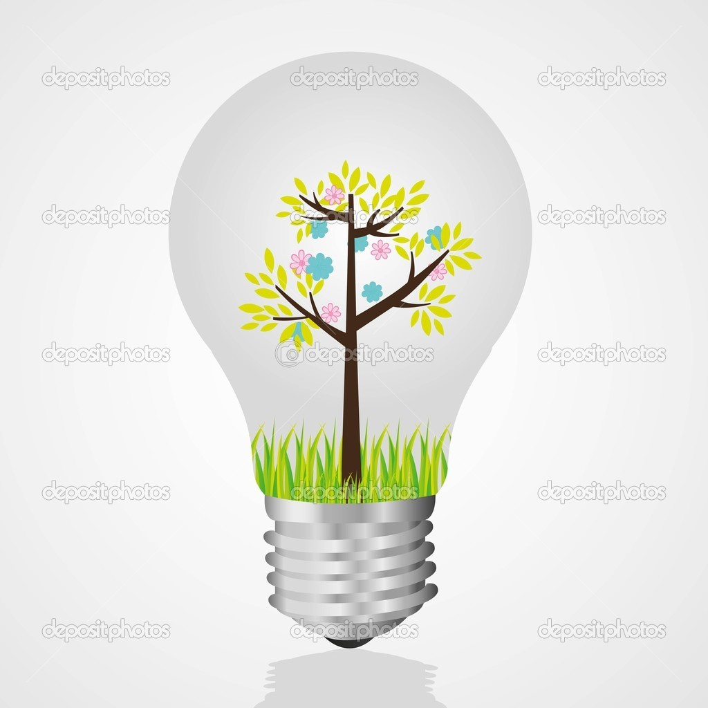 Bulb recycling, reuse of old light bulbs  Stock Vector #10375003