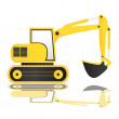 Backhoe — Stock Vector #10559326