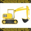 Grunge backhoe — Stock Vector #10559391
