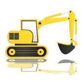 Backhoe — Stock Vector
