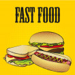 Stock Vector: Fast food combo