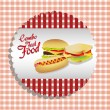 Stock Vector: Fast food combo label