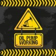 Sign of an oil pump — Stock Vector