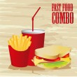 Sandwich combo - Stock Vector