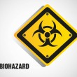 Biohazard sign isolate — Stock Vector #10623031