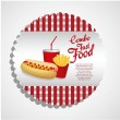 Fast food combo - Stock Vector