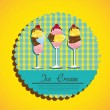 Label ice cream — Stock Vector