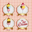 Labels ice cream — Stock Vector