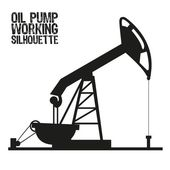 Silhouette of oil pump — Vector de stock