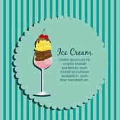 Label of an ice cream — Stock Vector