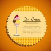 Label of a ice cream — Stock Vector