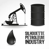 Icons in the oil industry — Stock Vector