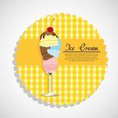 Label ice cream — Stock Vector