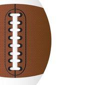 American football close up — Stock Vector