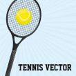 Tennis vector — Stock Vector