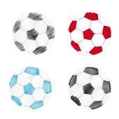 Scrawled balls — Stock Vector