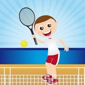 Playing tennis — Stock Vector