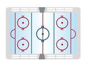 Hockey pitch — Stock Vector