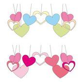 Cute hearts — Vecteur