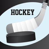 Hockey close up — Vector de stock